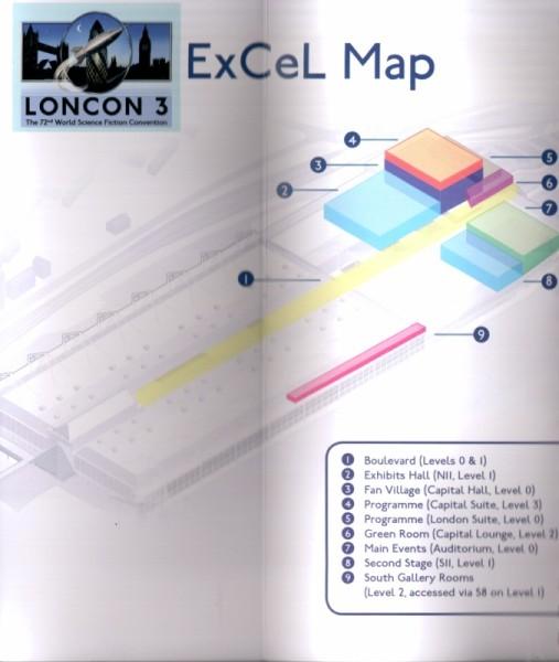 Loncon zajmował obszary zaznaczone nakolorowo.