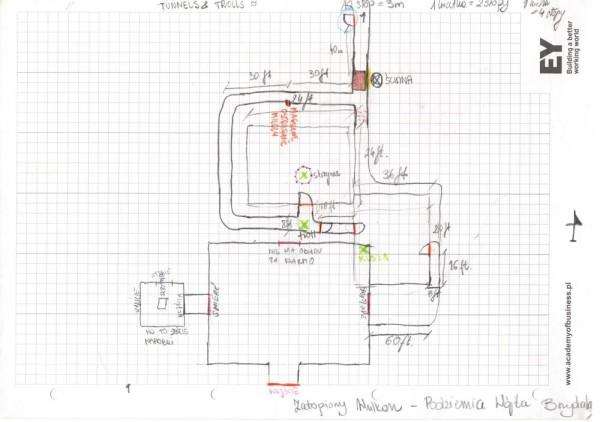Fragment mapy rysowanej przezgraczy