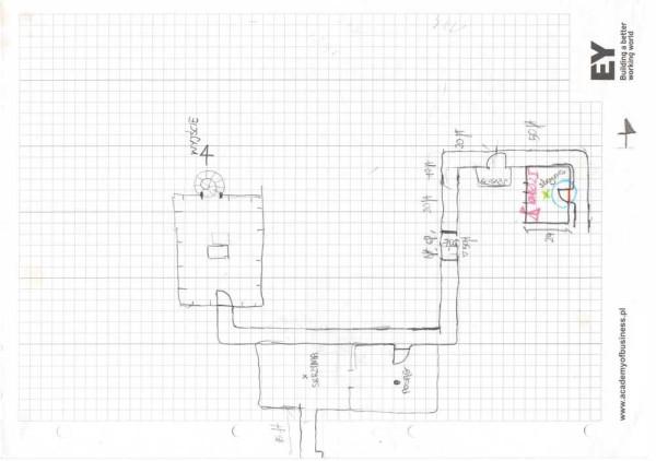 Fragment mapy rysowanej przezgraczy (zaburzona skala)