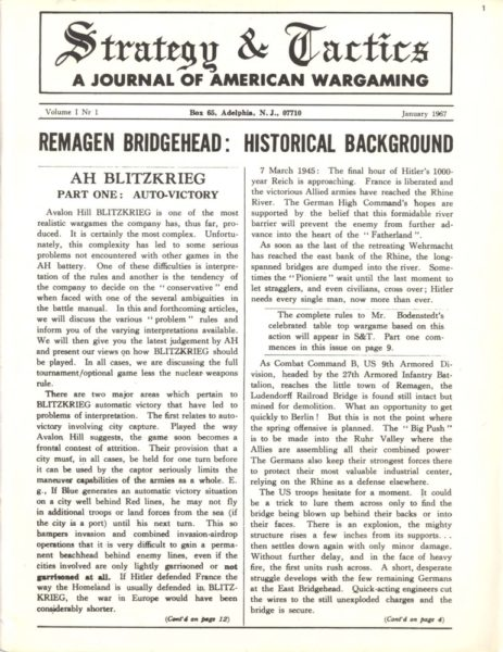 """Strategy & Tactics"" #1 (Jan 1967)"