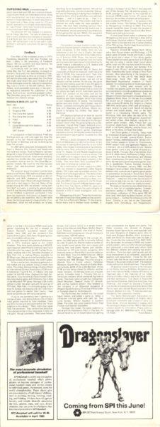 """Kompletna sekcja """"Gossip"""", awniej m.in.Gary Gygax jako celebryta. """"Strategy & Tactics"""" #79 (Mar-Apr 1980)"""