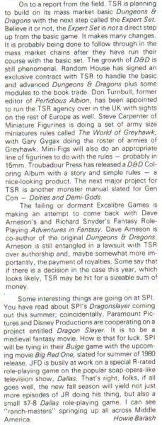 """Zapowiedź """"D&D Expert Set"""". """"Strategy & Tactics"""" #80 (May-Jun 1980)"""