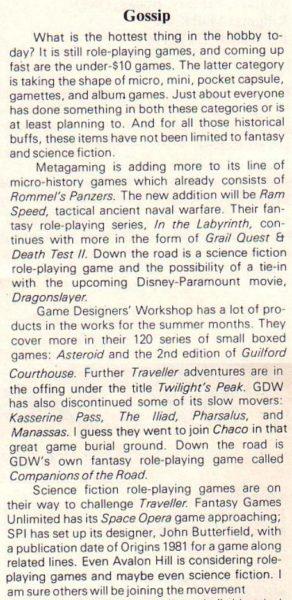 """RPG – najbardziej popularne gry narunku. """"Strategy & Tactics"""" #81 (Jul-Aug 1980)"""