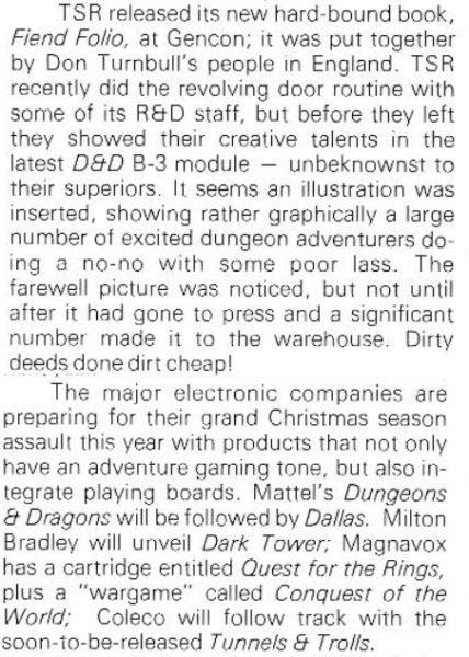 """Moduł B-3 toniesławna przygoda """"Palace of the Silver Princess"""". """"Strategy & Tactics"""" #88 (Sep-Oct 1981)"""