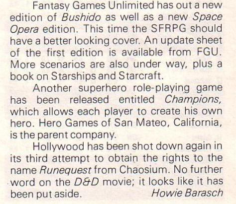 "Filmowa adaptacja ""Runequest'? ""Strategy & Tactics"" #89 (Nov-Dec 1981)"