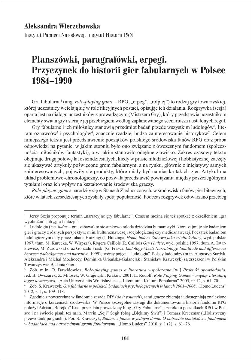 """Aleksandra Wierzchowska: """"Planszówki, paragrafówki, erpegi…"""""""